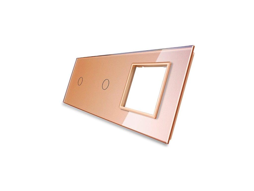 sklenený 3-rámik zlatý