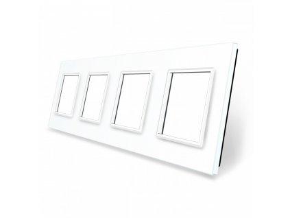 LIVOLO SR-SR-SR-SR-11 sklenený 4-rámik biely
