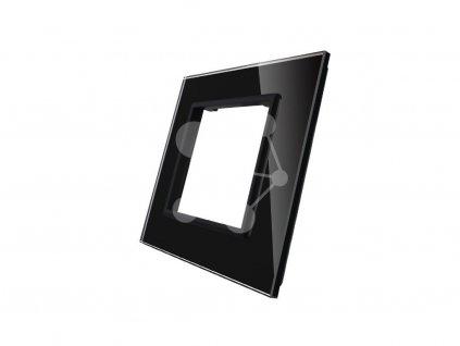 LIVOLO SR-12 sklenený 1-rámik čierny