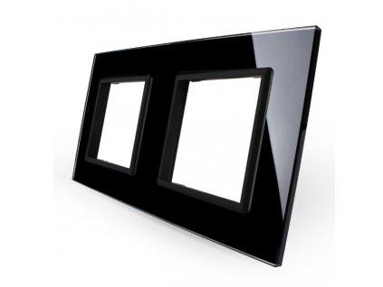 LIVOLO SR-SR-12 sklenený 2-rámik čierny