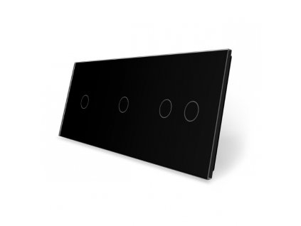 LIVOLO 1C-1C-2C-12 sklenený 3-rámik čierny