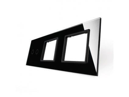 LIVOLO 2C-SR-SR-12 sklenený 3-rámik čierny