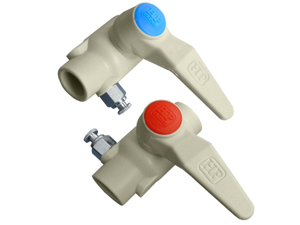 Kulový ventil s vypouštěním - Pravý