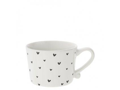 Hrneček Mug Small White/little hearts in black
