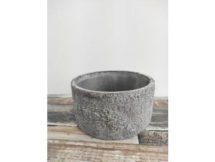 Květináč betonový kůra kulatý  Květináč betonový kůra kulatý