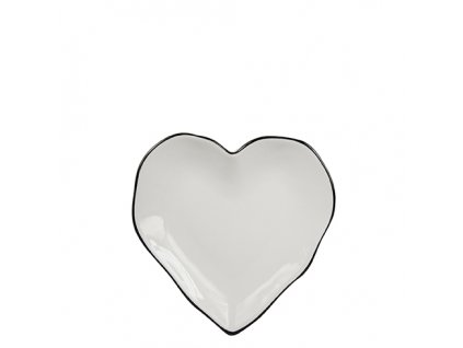 PlatesHeart Plate 13cm with black