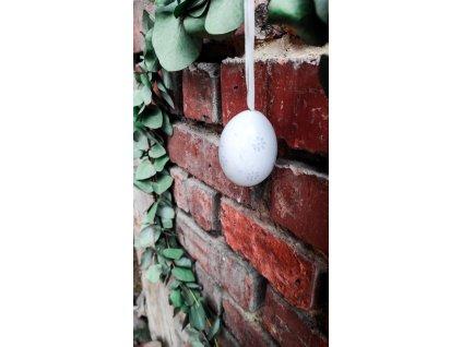 Vajíčko bílošedé se světlemodrými kvítky  Vajíčko bílošedé se světlemodrými kvítky