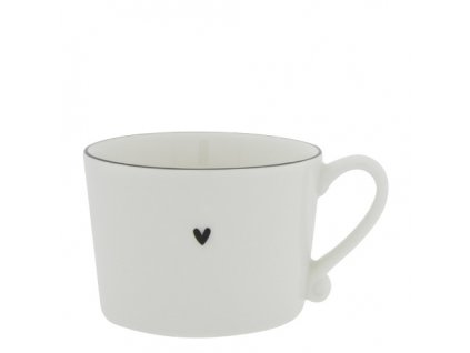 Cup White with Black edge