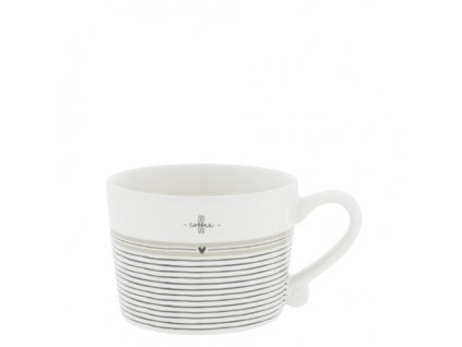 Cup White sm Stripes Coffee