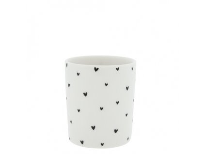 Mug White hearts in black
