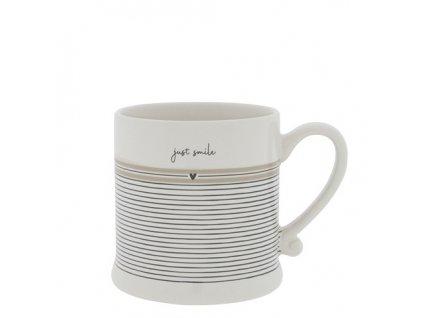 Mug White Stripes Just Smile