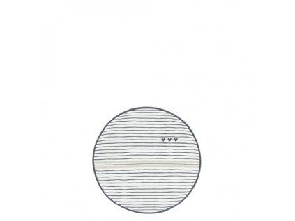 Teatip 9cm White Stripes and hearts