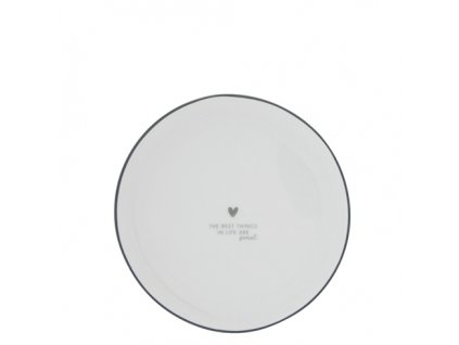 Cake Plate 16cm White Best things are Sweet
