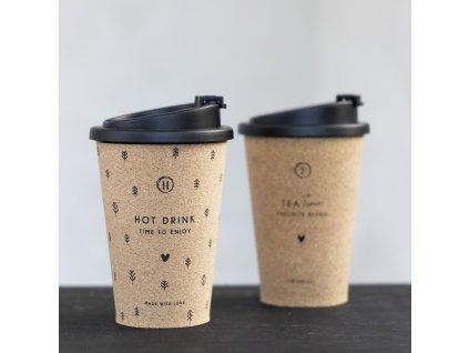 COFFEE TO GO S NÁPISEM HOT DRINK