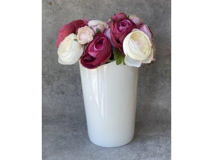 Váza keramická bílá