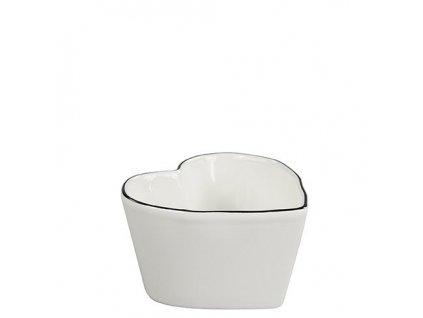 Miska srdíčko Heart Shape Bowl Small edge black 10x10x6cm
