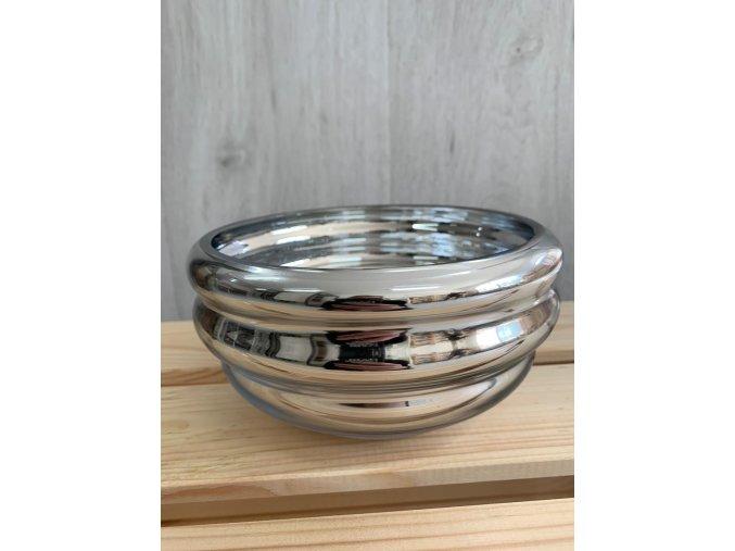 Keramická miska stříbrná velká