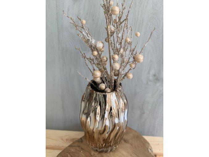 Váza keramická zlatá