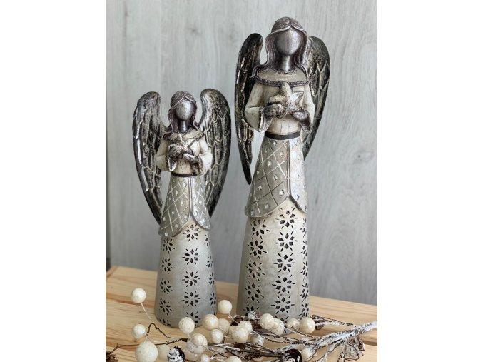 Anděl z polyresinu