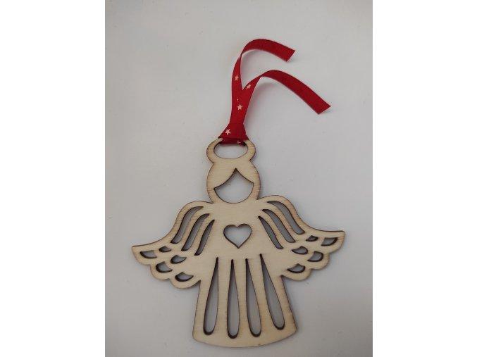 Ozdoba dřevěná andělíček