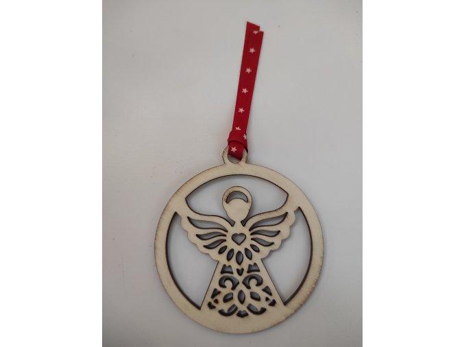 Ozdoba dřevěná anděl