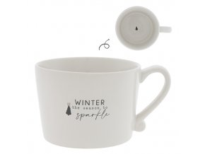 Hrneček Cup White/Winter Sparkle in Black/Naturel  Hrneček Cup White/Winter Sparkle in Black/Naturel