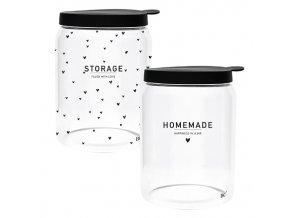 Storage Ass (2x4) with black lid Dia 12.8x 16.5cm