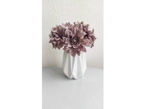 Váza bílá s reliéfem 15 cm