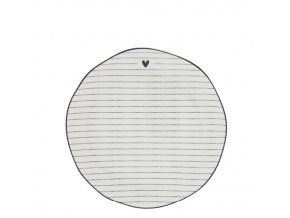 Dessert Plate Stripes White edge black 19 cm