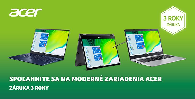 Acer - Záruka 3 roky