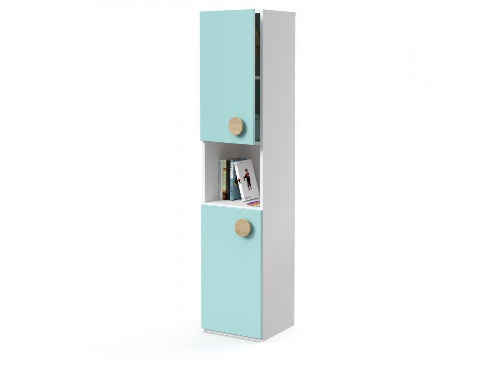 skříň vysoká 2-dveřová s nikou levá (D-SK-540-03-N-L)