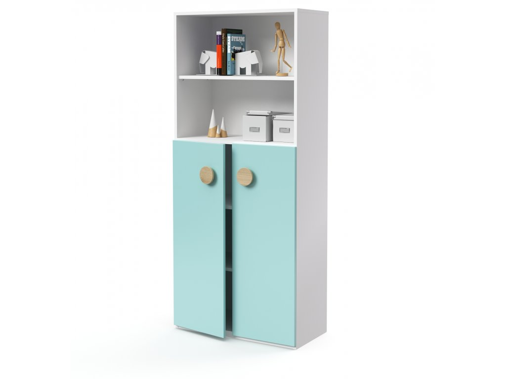 skříň vysoká 2-dveřová 2 niky (D-SK-580-02-2N)
