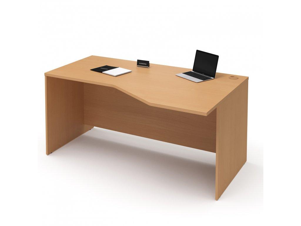 E STR 01 P buk rohovy kancelarsky pracovni stul kancelarsky nabytek KANONA