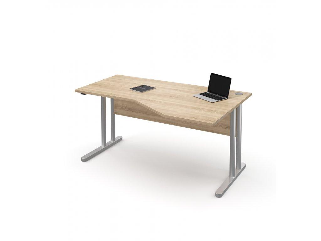 E STR 21 P dub rohovy kancelarsky pracovni stul kancelarsky nabytek KANONA