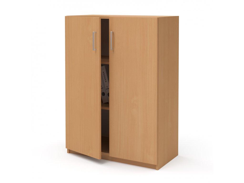 E SK 380 02 buk skrin stredni dverova kancelarsky nabytek KANONA