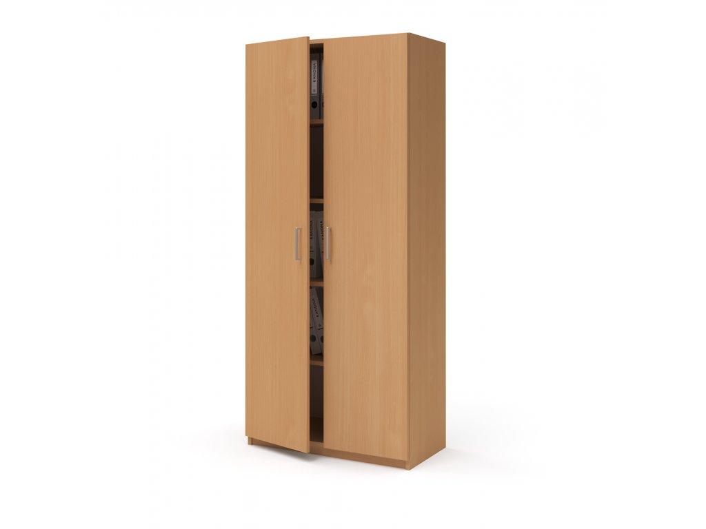 E SK 580 02 buk skrin vysoka dverova kancelarsky nabytek KANONA
