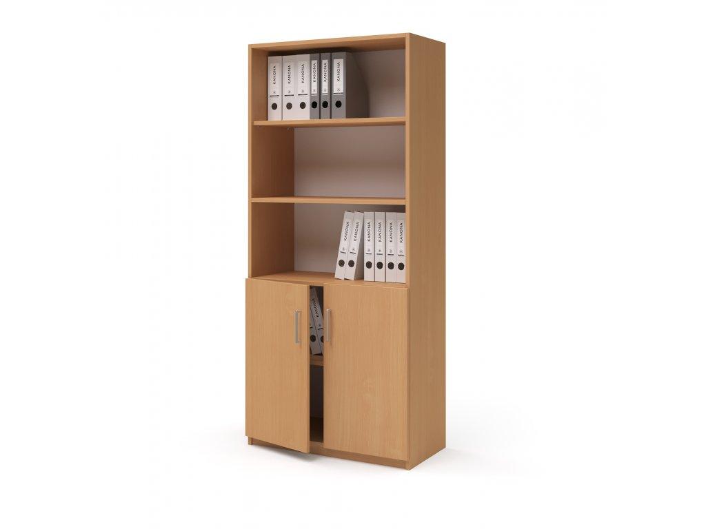 E SK 580 02 3N buk skrin vysoka dverova kancelarsky nabytek KANONA
