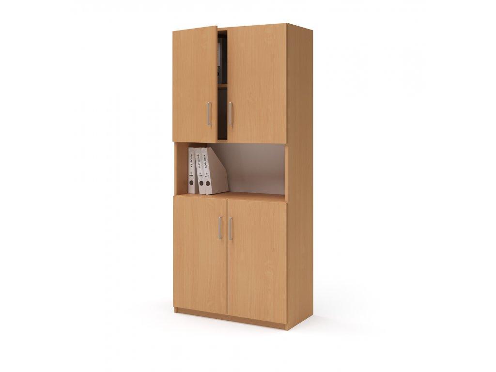 E SK 580 03 N buk skrin vysoka dverova kancelarsky nabytek KANONA