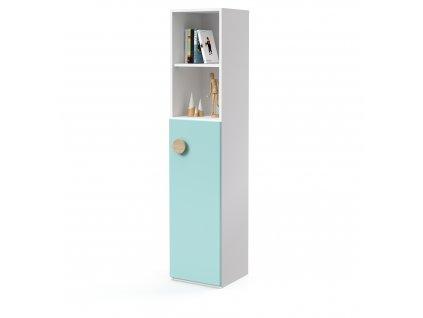 skříň vysoká 1-dveřová 2 niky pravá (D-SK-540-02-2N-P)