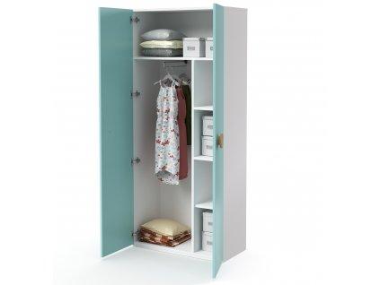 skříň vysoká 2-dveřová šatní (D-SK-580-10)