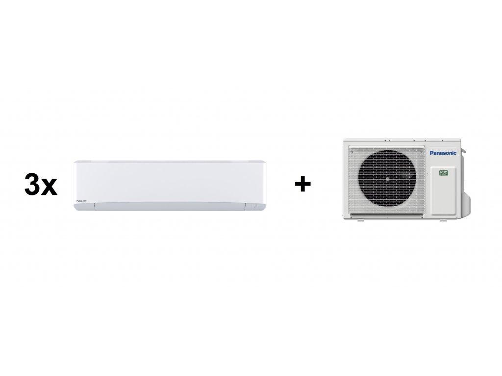 Klimatizace Tepelné čerpadlo Panasonic pro 3 místnosti (3x 2,50 kW)
