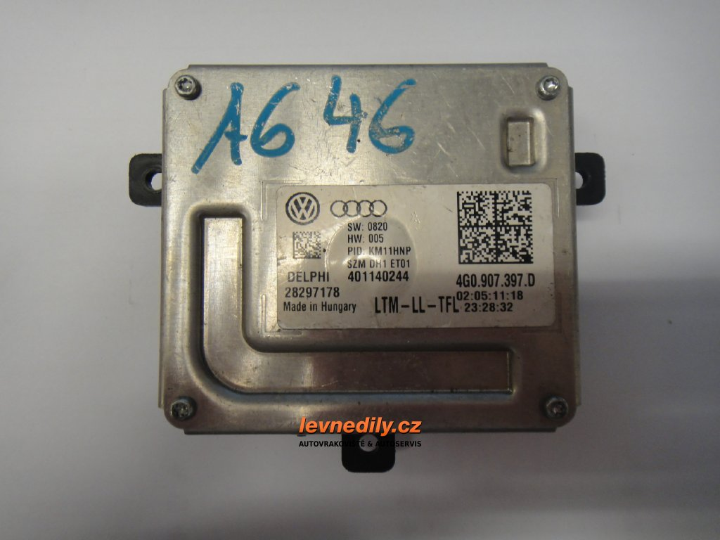 Řídící jednotka pro denní svícení 4G0907397D Audi Škoda