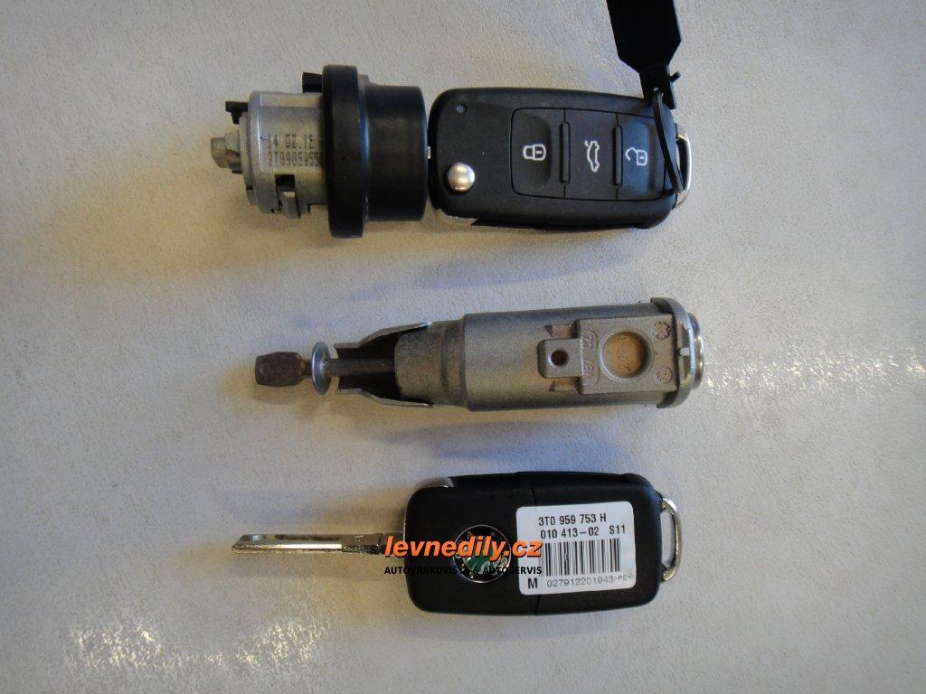 Sada vložky zámku s klíčem 5L0837167B Škoda Yeti