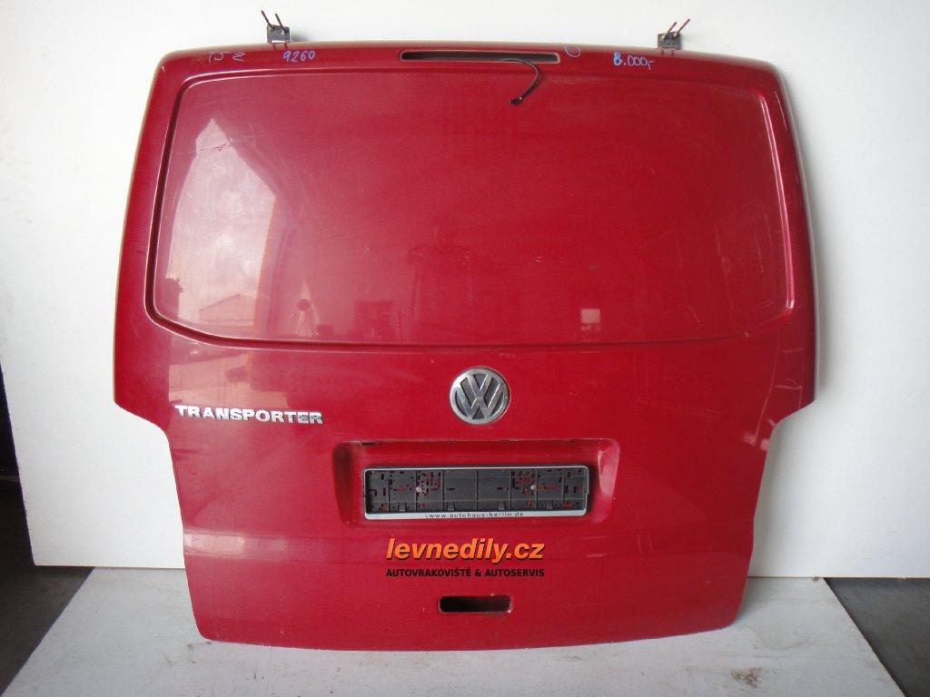 Zadní výklopné dveře VW Transporter T5 celoplech
