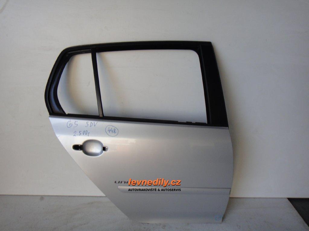 Pravé zadní PZ dveře VW Golf V