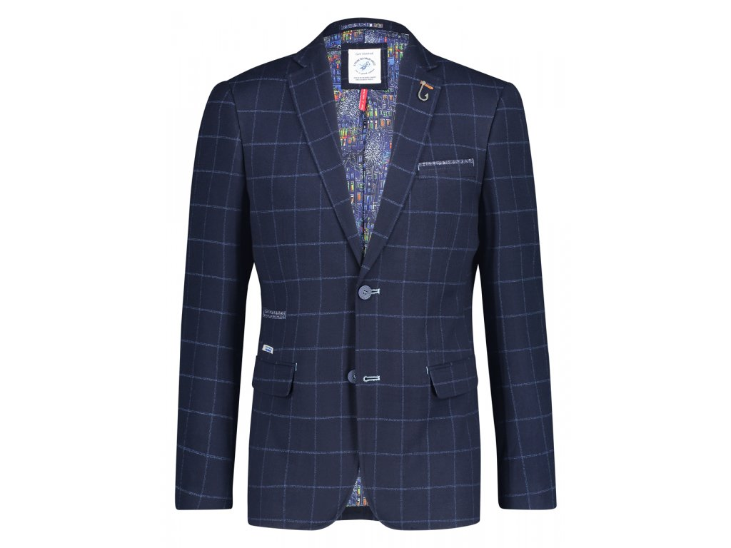 Sako Blazer Blue Windowpane