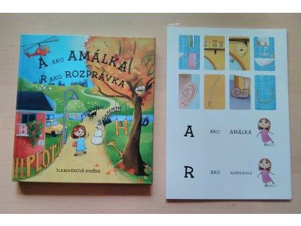 A ako AMÁLKA R ako ROZPRÁVKA šlabikárová knižka + Komunikačné kartičky