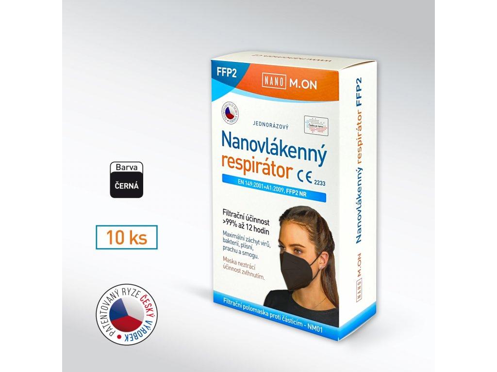 Antivirový NANO M.ON nanorespirátor FFP2 NR 10ks + hřebínek zdarma