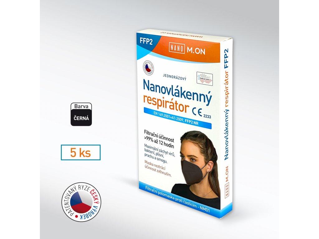 Antivirový NANO M.ON nanorespirátor FFP2 NR 5ks + hřebínek zdarma
