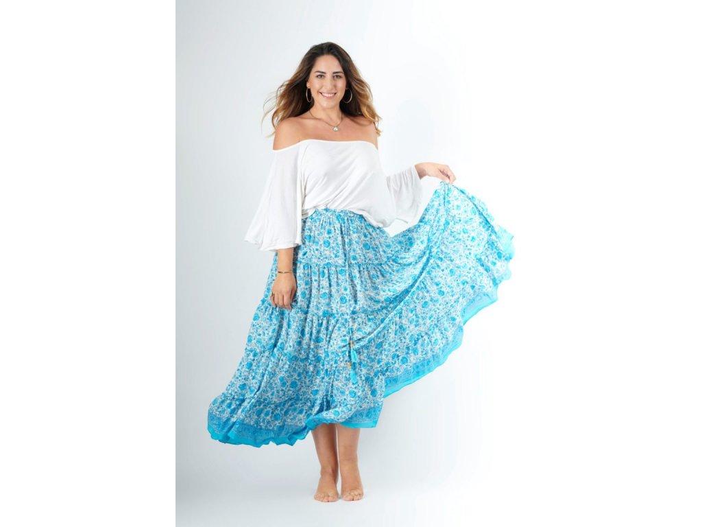 hedvábná letní sukně